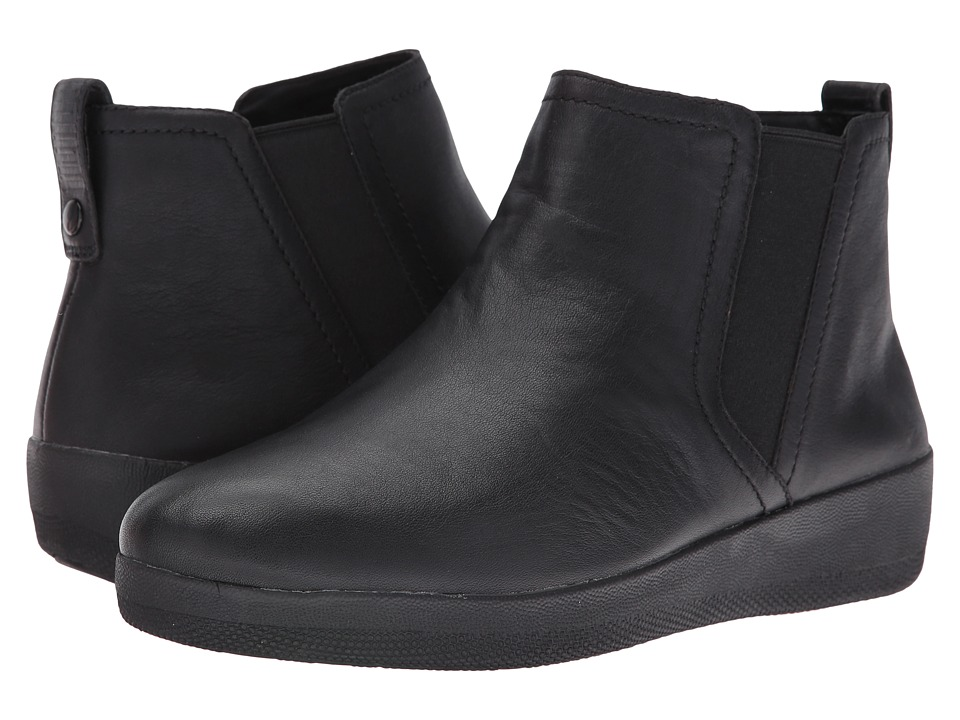 FitFlop Superchelsea Boot Black Womens  Boots