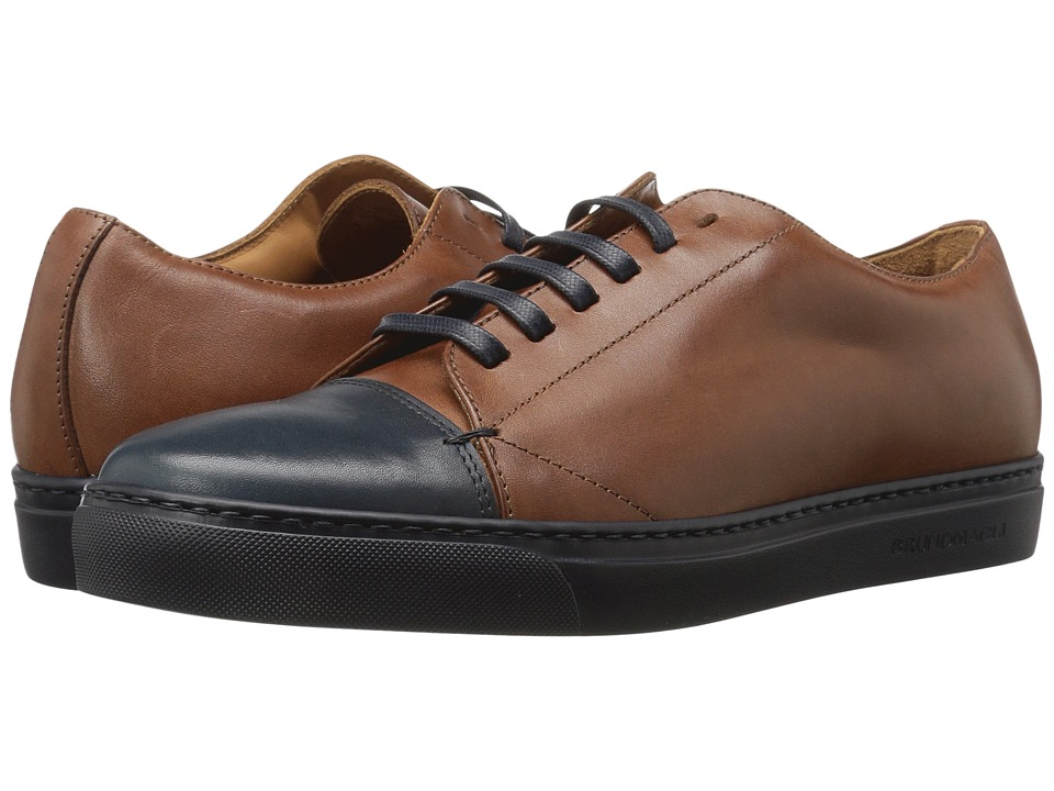 Bruno Magli - Vento (Cognac/Navy) Men's Shoes