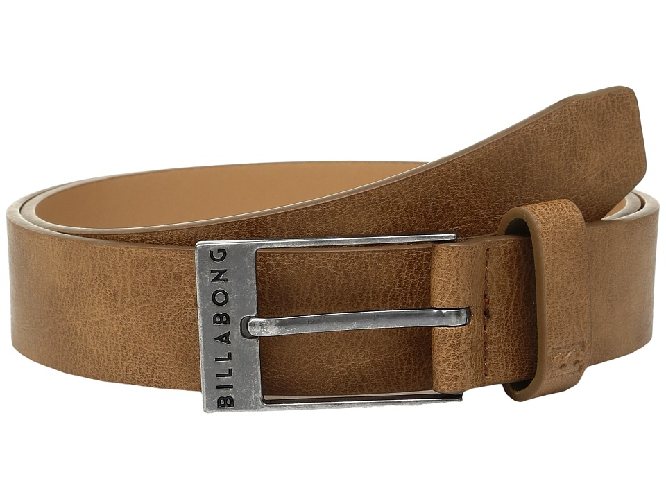 Billabong - Bower Slim Belt (Tan) Men's Belts