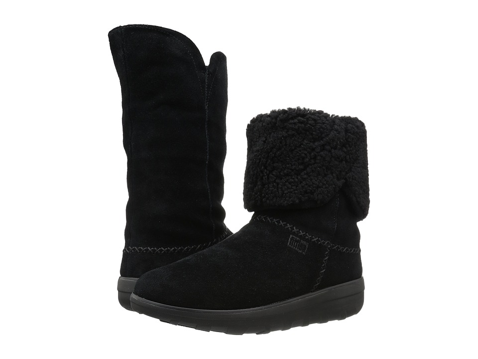 FitFlop Supercush Mukluk Boot Black Womens  Boots