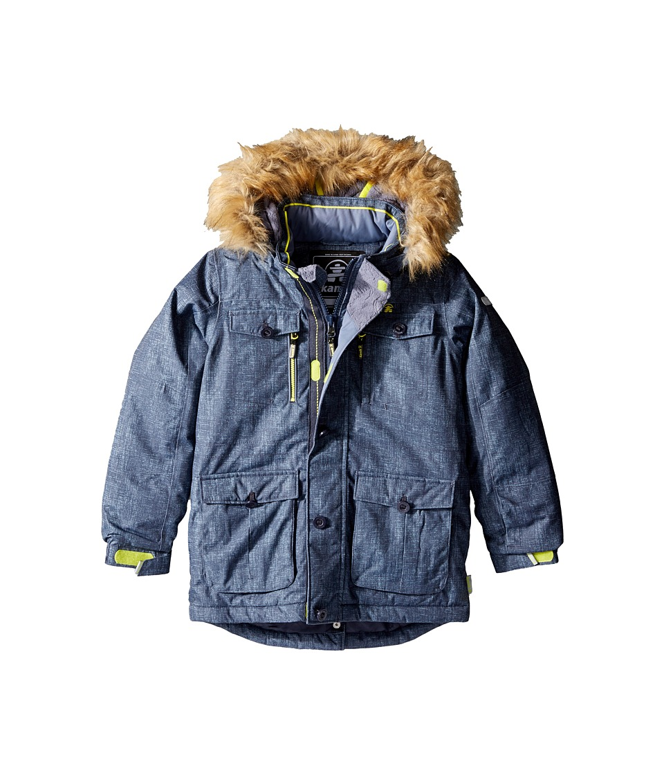 Kamik Kids - Darwin Noise Winter Jacket (Toddler/Little Kids) (Graphite) Boy's Coat