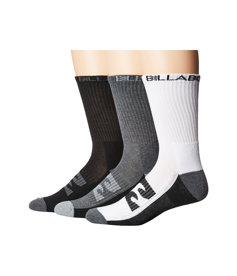 Billabong - Sport Socks 3-Pack (Assorted) Men's Crew Cut Socks Shoes
