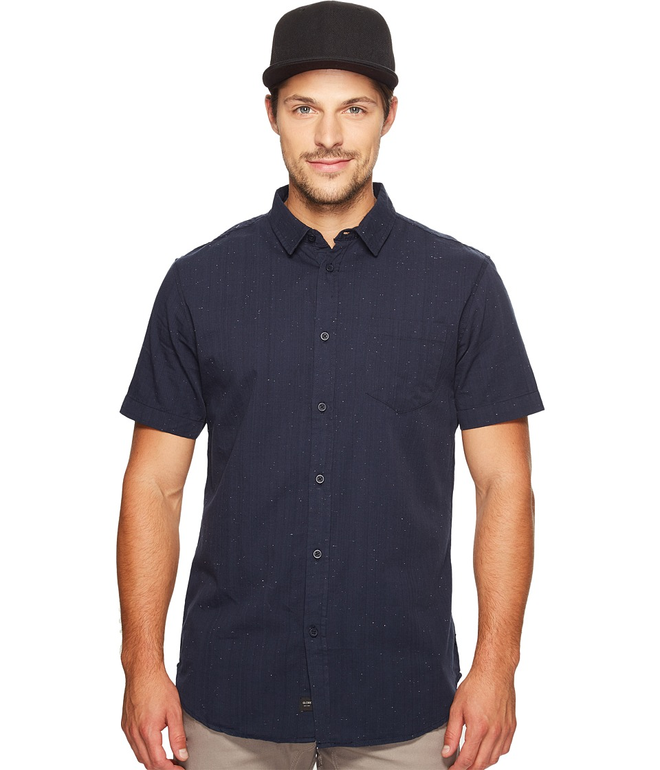 Globe - Goodstock Nep Short Sleeve Shirt (Navy) Men's Short Sleeve Button Up