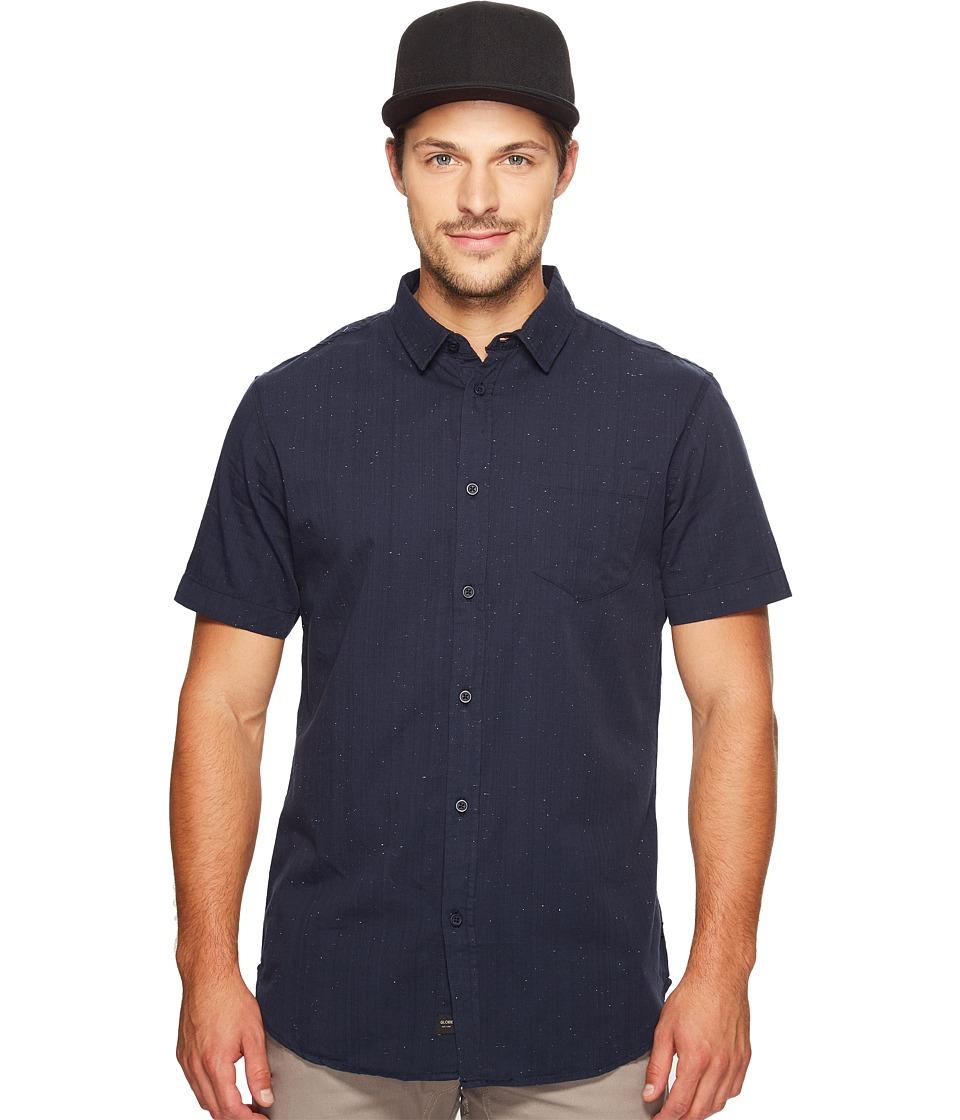 Globe - Goodstock Nep Short Sleeve Shirt (Navy) Men's Short Sleeve Button Up