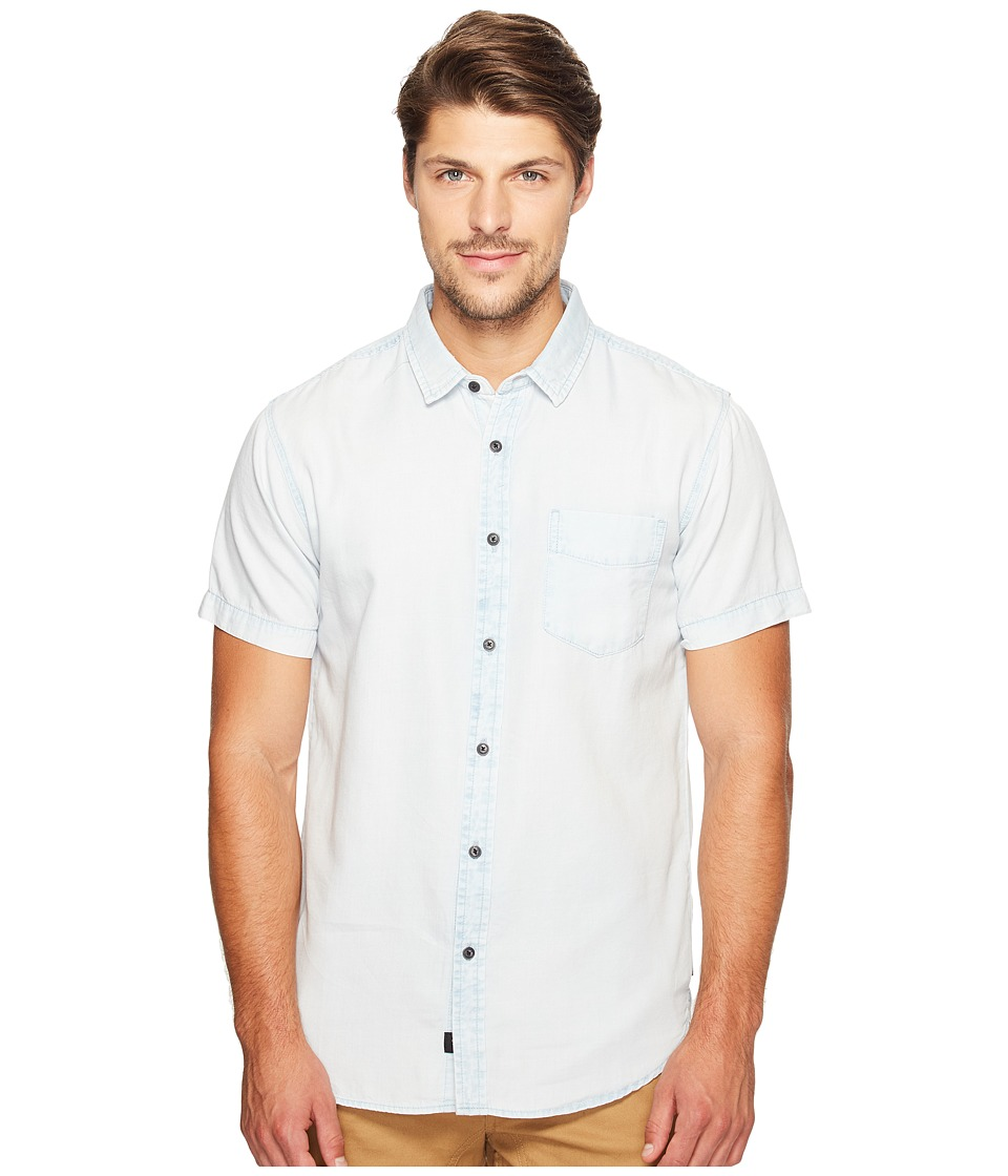 Globe - Goodstock Vintage Short Sleeve Shirt (Ice Blue) Men's Short Sleeve Button Up