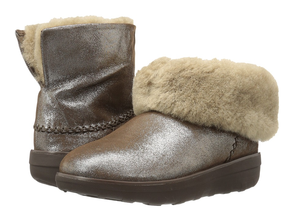 FitFlop Mukluk Shorty 2 Shimmer Boot (Bronze) Women