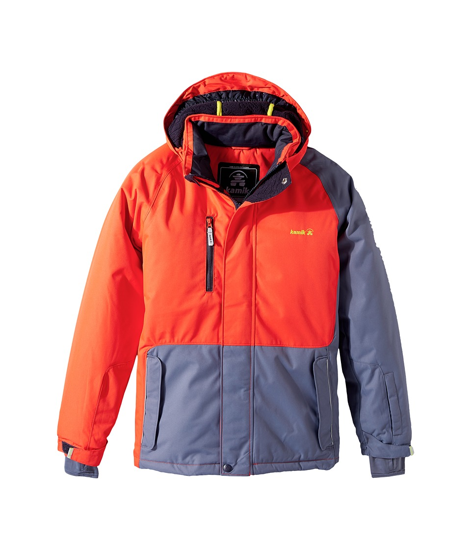 Kamik Kids - Hunter Colour Block (Little Kids/Big Kids) (Grenadine) Boy's Coat