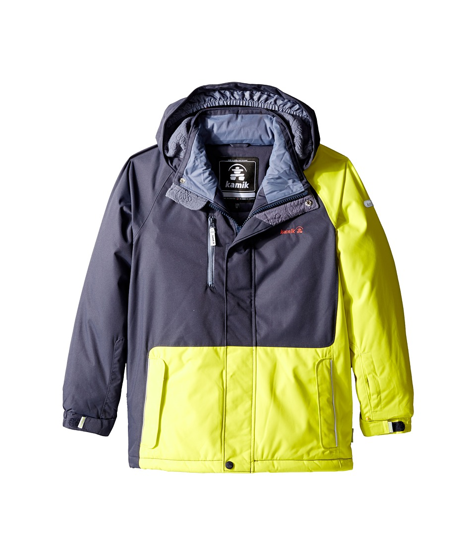 Kamik Kids - Hunter Colour Block (Little Kids/Big Kids) (Sulphur Spring) Boy's Coat