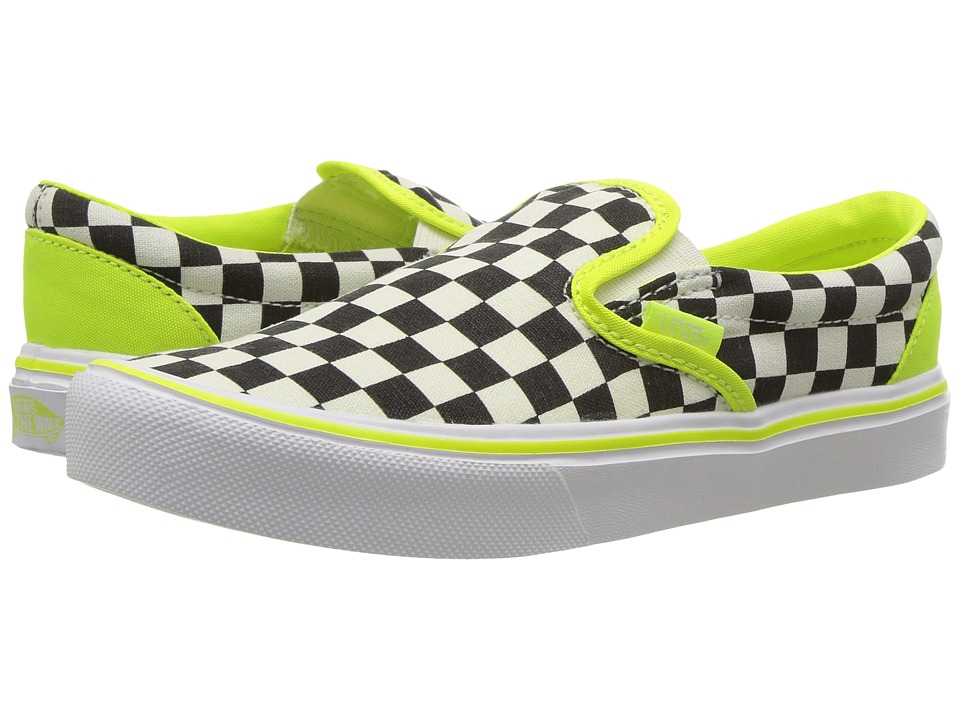 Vans Kids - Classic Slip-On Lite (Little Kid/Big Kid) ((Freshness) Classic White/White) Boys Shoes