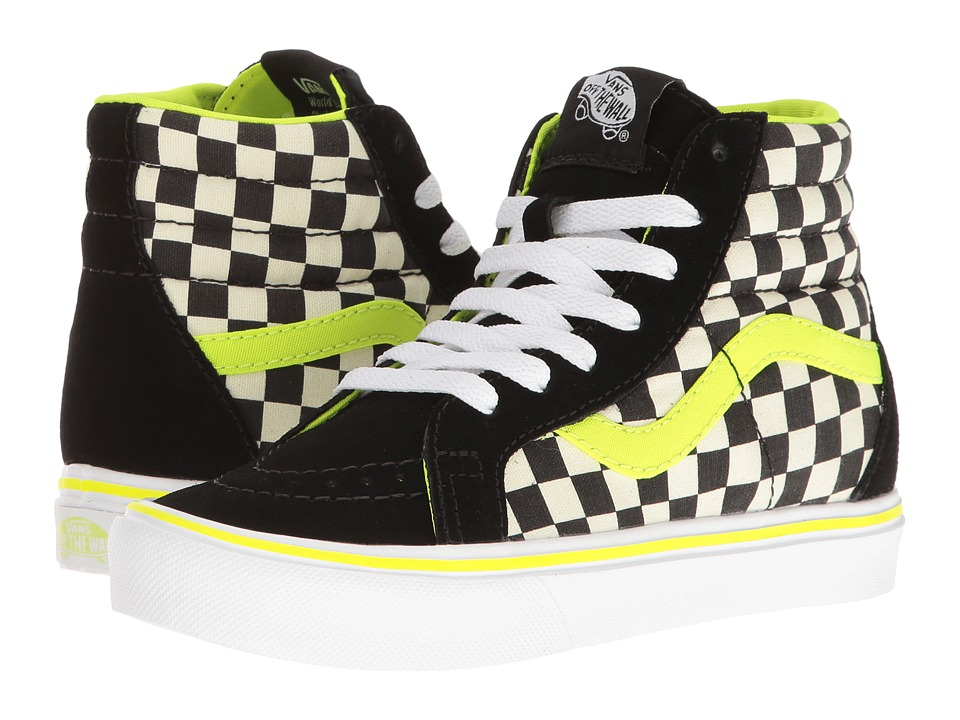 Vans Kids - Sk8-Hi Reissue Lite (Little Kid/Big Kid) ((Freshness) Black/White) Boys Shoes