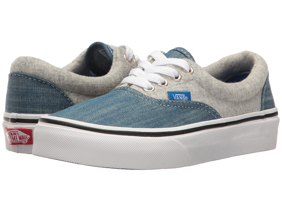Vans Kids Era (Little Kid/Big Kid) ((Jersey & Denim) Imperial Blue/True White) Boys Shoes