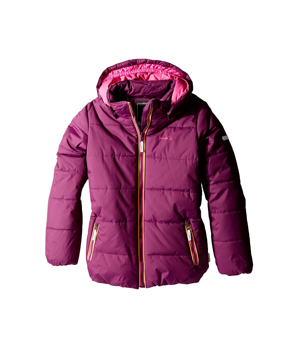 Kamik Kids - Avery Winter Jacket (Little Kids/Big Kids) (Dark Purple) Girl's Coat