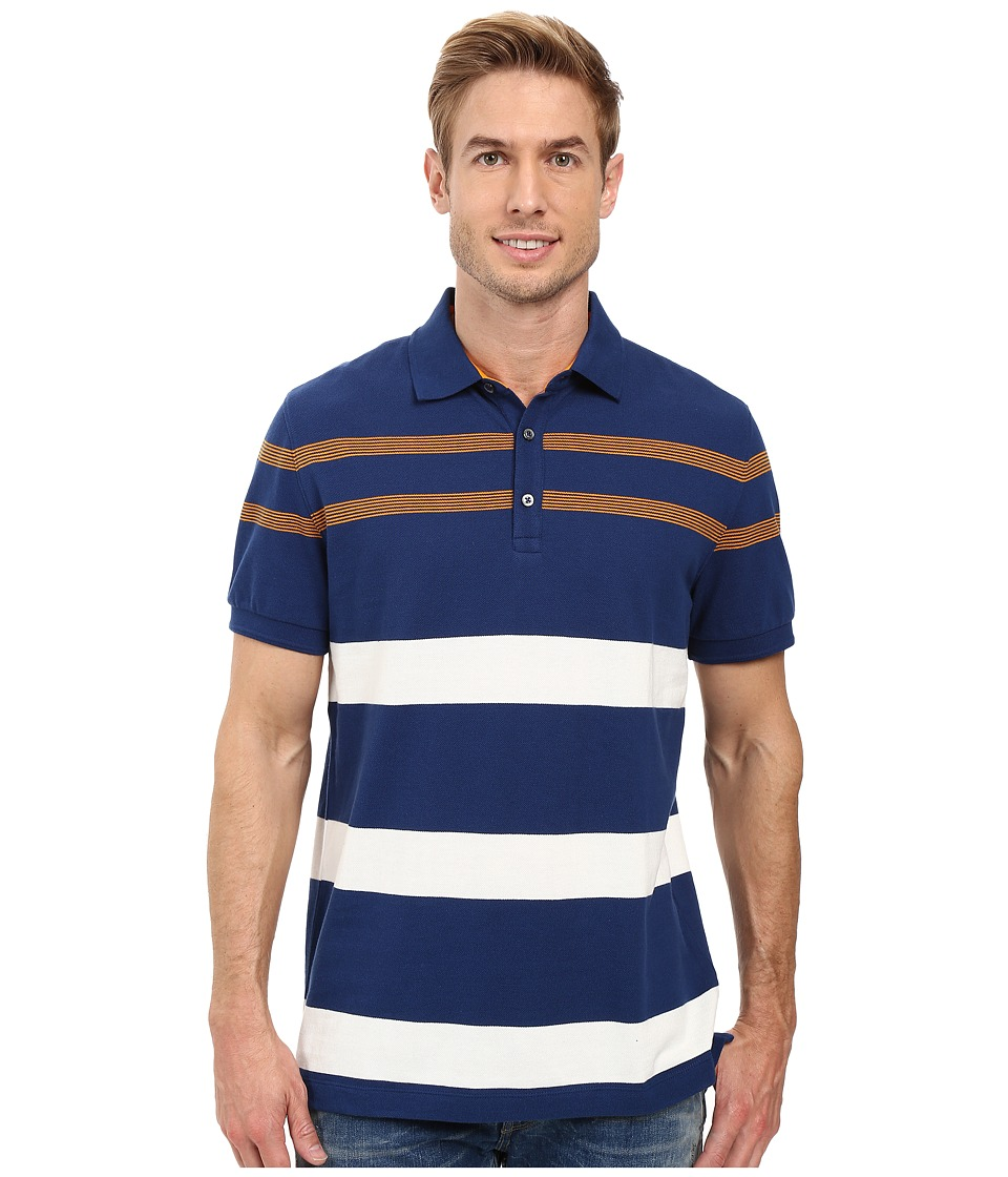 Nautica - Short Sleeve YD Stripe Polo (Estate Blue) Men's Short Sleeve Knit