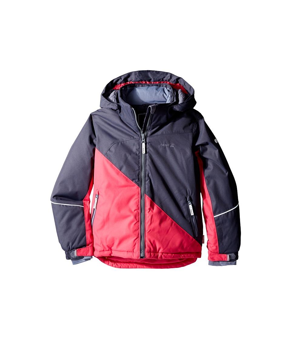 Kamik Kids - Aria Colour Block Jacket (Infant/Toddler/Little Kids) (Cerise) Girl's Coat