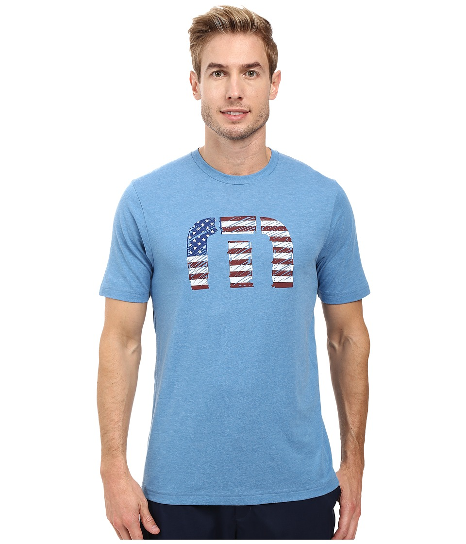 TravisMathew - Sparkler T-Shirt (Heather Blue) Men's T Shirt