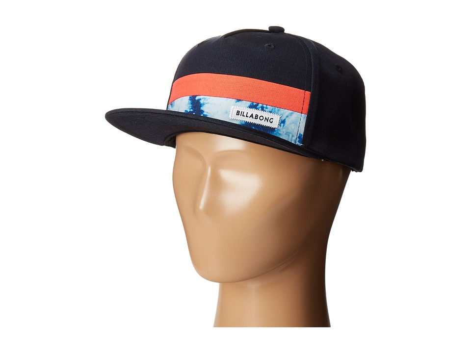 Billabong - Tribong Snapback Hat (Big Kids) (Navy/Red 2) Caps
