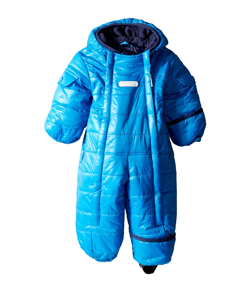 Kamik Kids - Topaz Snowsuit (Infant) (Cyan) Kid's Snow Bibs One Piece