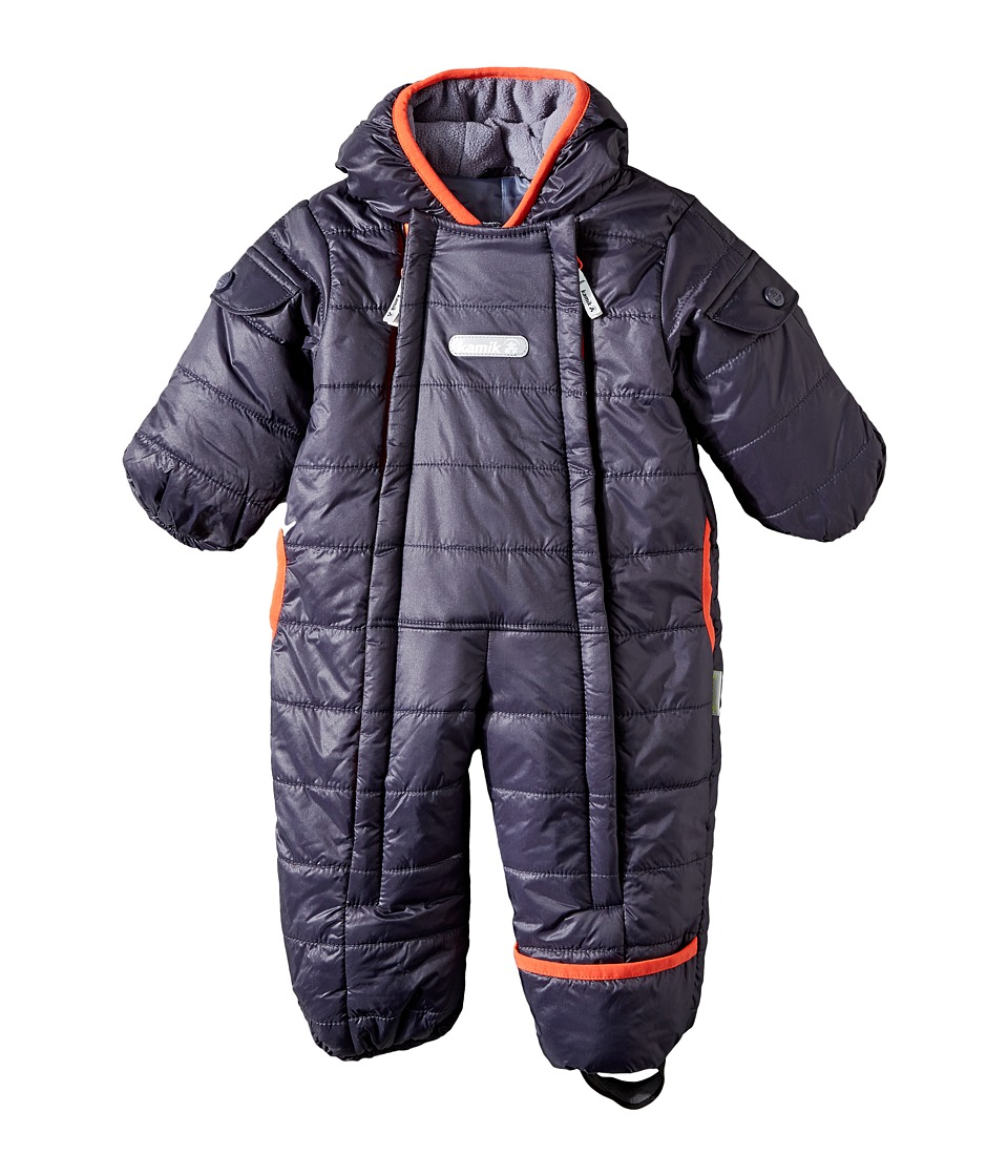 Kamik Kids - Topaz Snowsuit (Infant) (Graphite) Kid's Snow Bibs One Piece