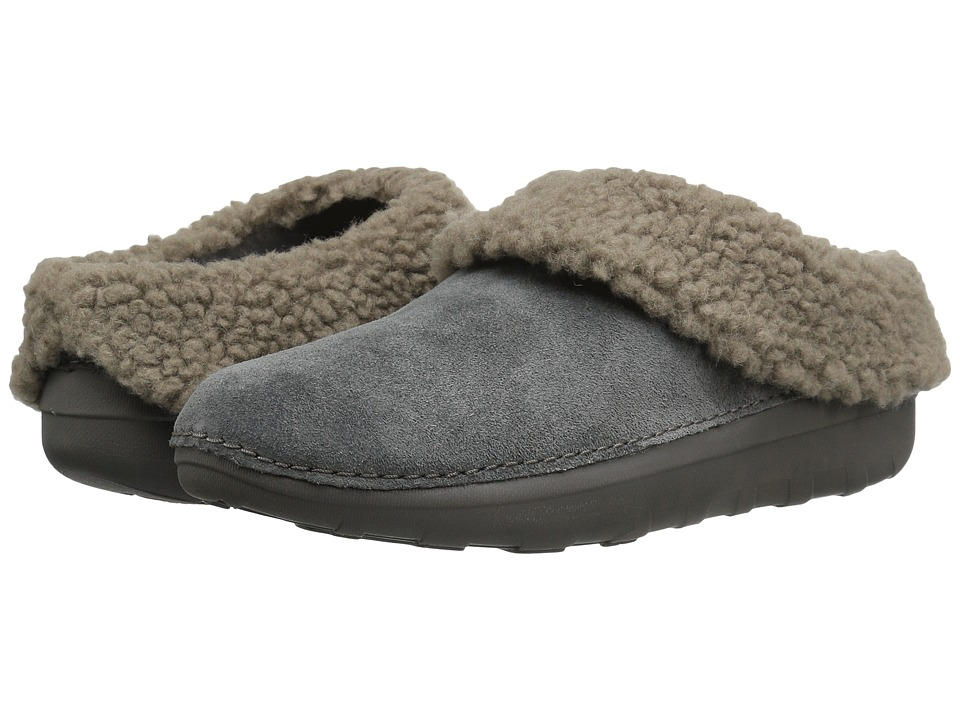 FitFlop - Loaff Snug Slipper (Charcoal) Women's Slippers