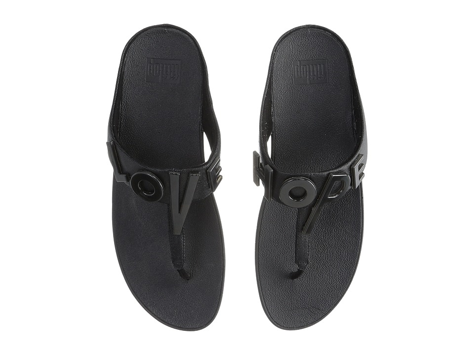 FitFlop - Love Hope Sandal (Black) Women's Shoes