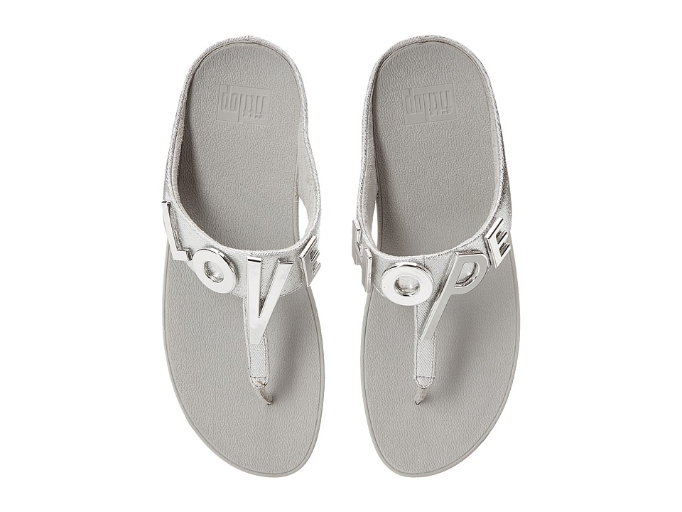 FitFlop - Love Hope Sandal (Silver) Women's Shoes