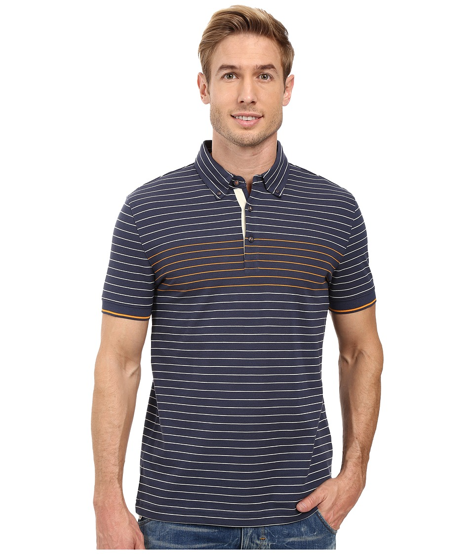 Nautica - Short Sleeve Engineered Polo (Mood Indigo) Men's Short Sleeve Knit