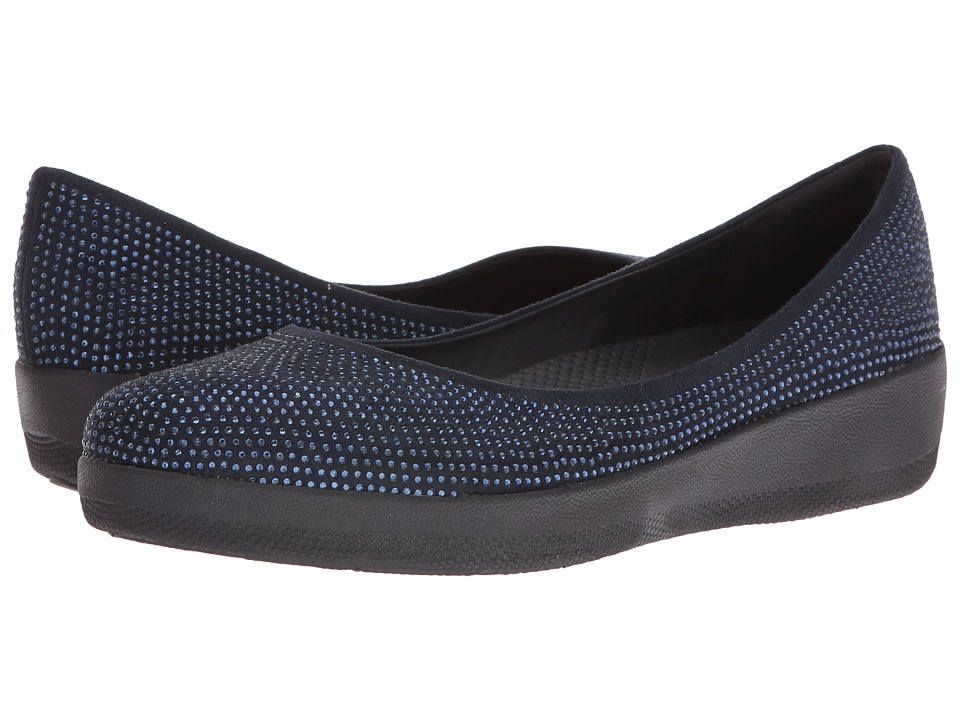 FitFlop - Glitter Superballerina (Super Navy) Women's Shoes