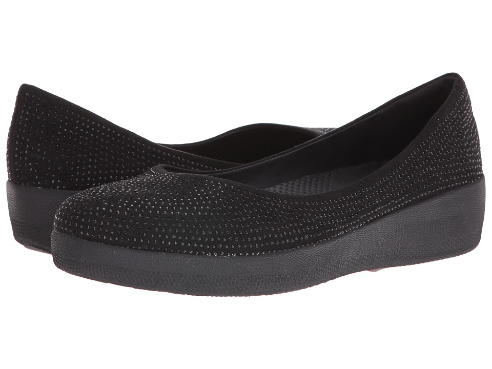 FitFlop Glitter Superballerina (Black) Women