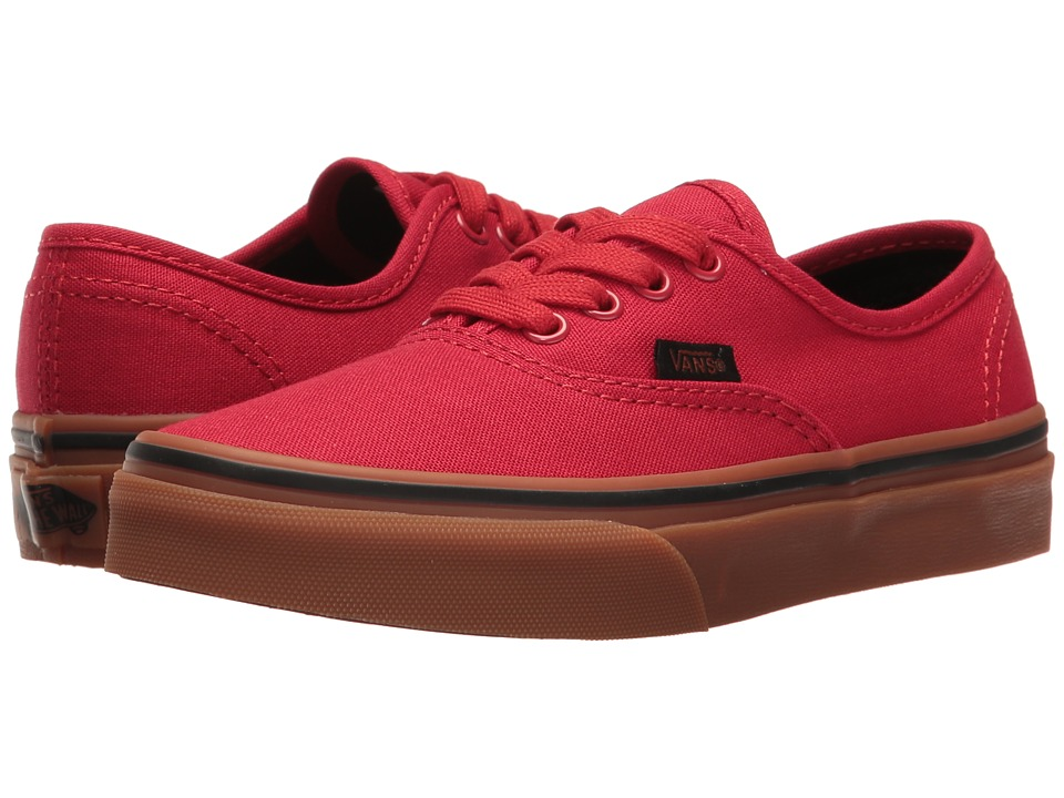 Vans Kids - Authentic (Little Kid/Big Kid) ((Gum) Racing Red/Black) Boys Shoes