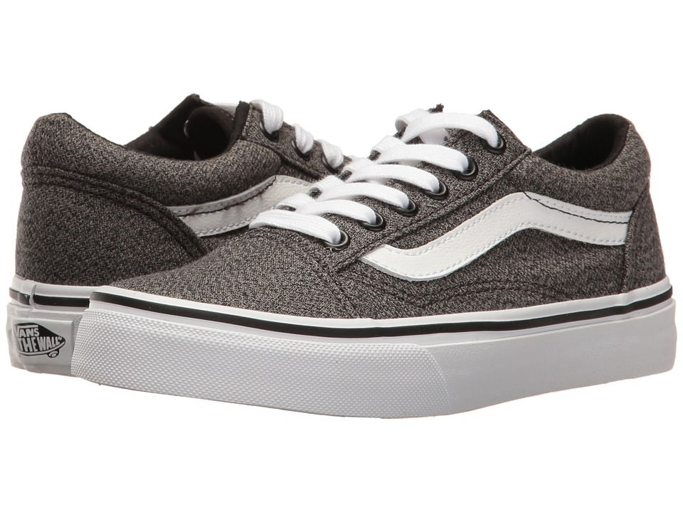 Vans Kids - Old Skool (Little Kid/Big Kid) ((Suiting) Black/True White) Boys Shoes