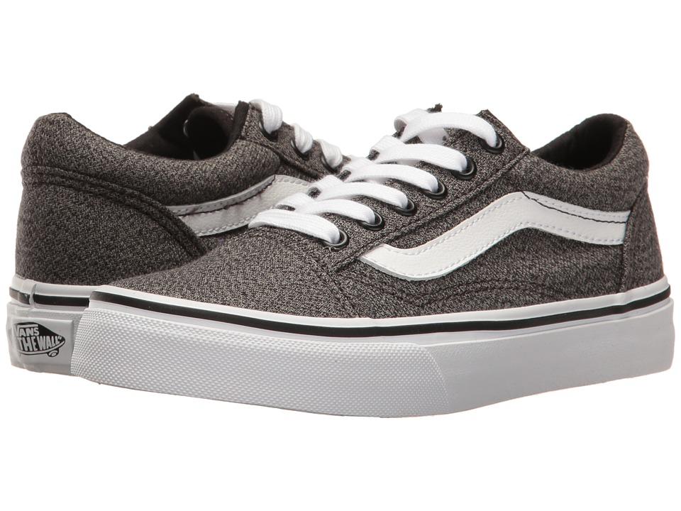 Vans Kids - Old Skool (Little Kid/Big Kid) ((Suiting) Black/True White) Boys Shoes