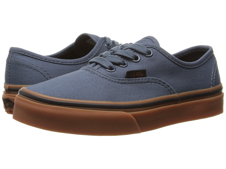 Vans Kids Authentic (Little Kid/Big Kid) ((Gum) Dark Slate/Black) Boys Shoes