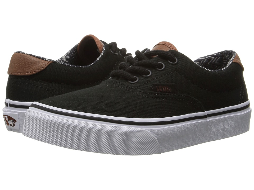 Vans Kids - Era 59 (Little Kid/Big Kid) ((C&L) Black/Material Mix) Boys Shoes