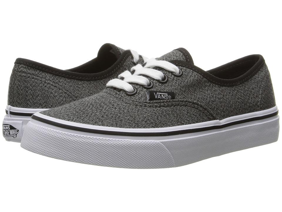 Vans Kids - Authentic (Little Kid/Big Kid) ((Suiting) Black/True White) Boys Shoes