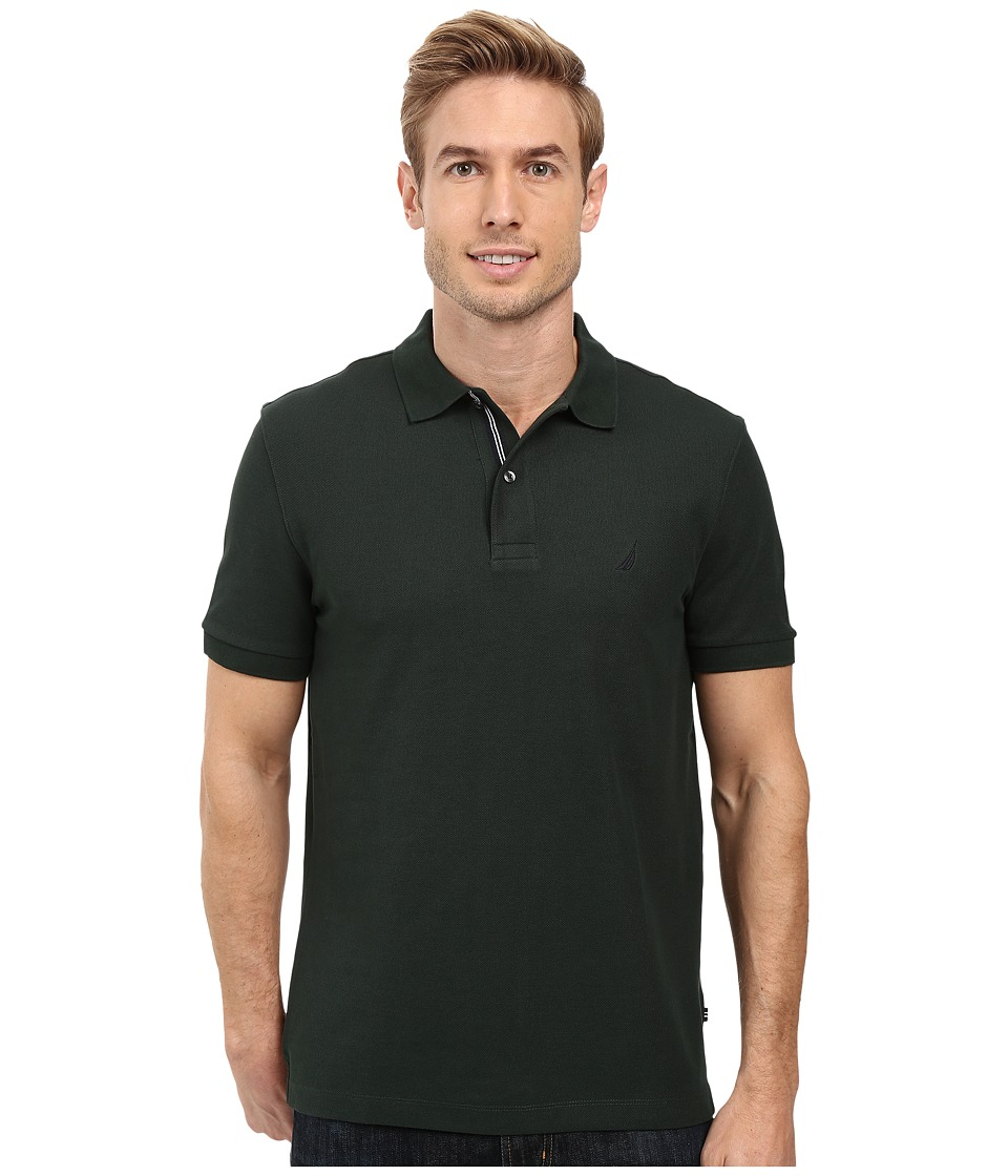 Nautica - Short Sleeve Solid Deck Shirt (Kelp Seas) Men's Short Sleeve Knit