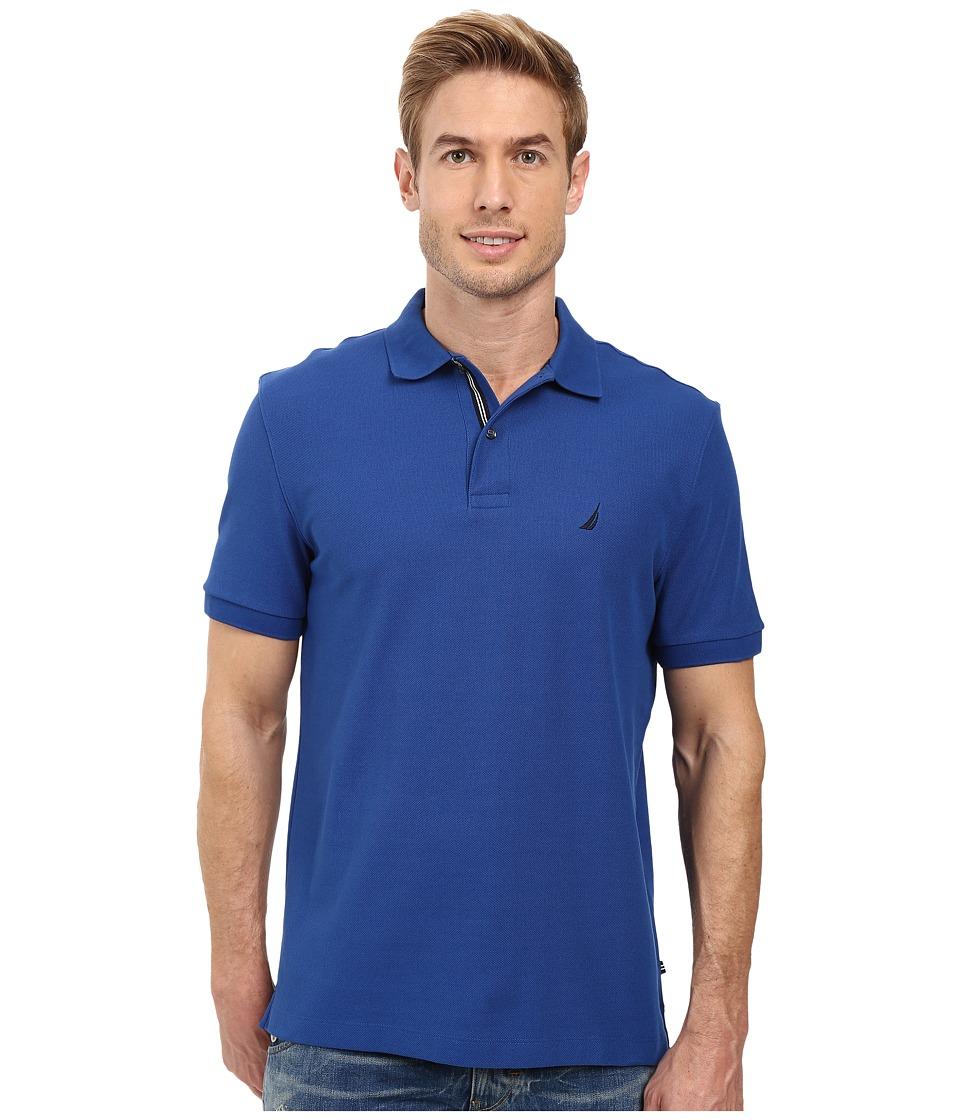 Nautica - Short Sleeve Solid Deck Shirt (True Blue) Men's Short Sleeve Knit