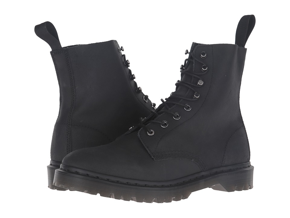 Dr. Martens - Hadley 8-Tie Boot (Black) Men's Lace-up Boots