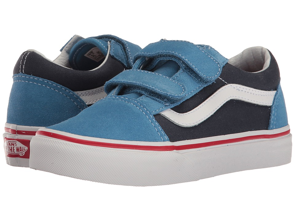 Vans Kids - Old Skool V (Little Kid/Big Kid) ((Two-Tone) Cendre Blue/Parisian Night) Boys Shoes