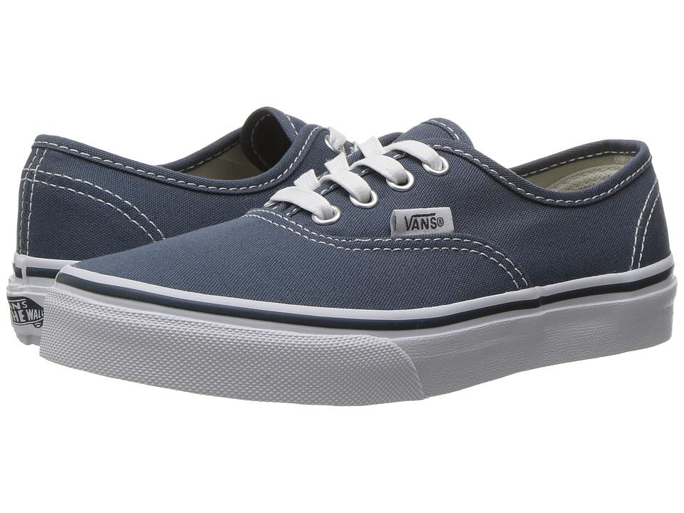 Vans Kids - Authentic (Little Kid/Big Kid) ((Canvas) Dark Slate/True White) Boys Shoes