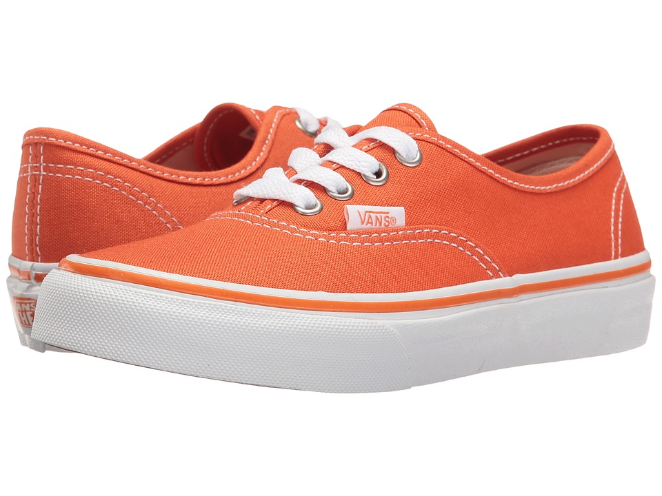 Vans Kids - Authentic (Little Kid/Big Kid) ((Canvas) Harvest Pumpkin/True White) Boys Shoes