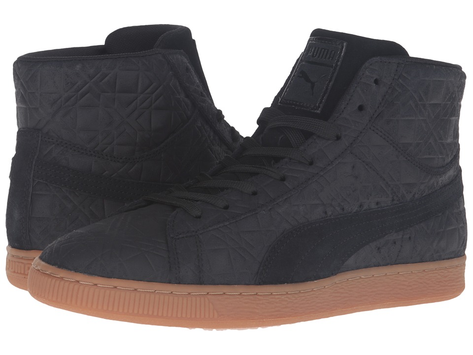 PUMA - Suede Mid Emboss FA (Black) Men's Shoes