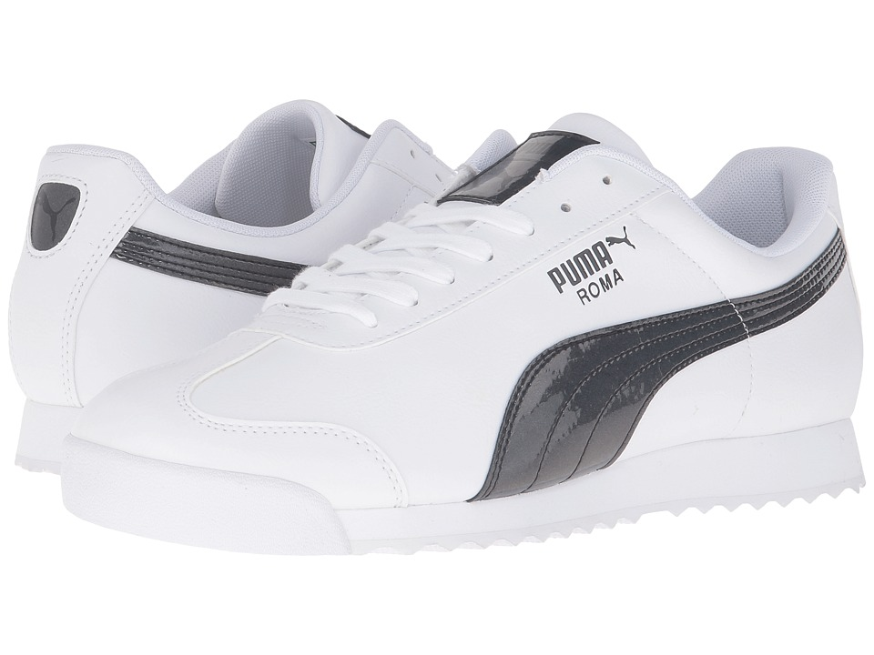 PUMA - Roma TL Iridescent (White/Black) Men's Shoes