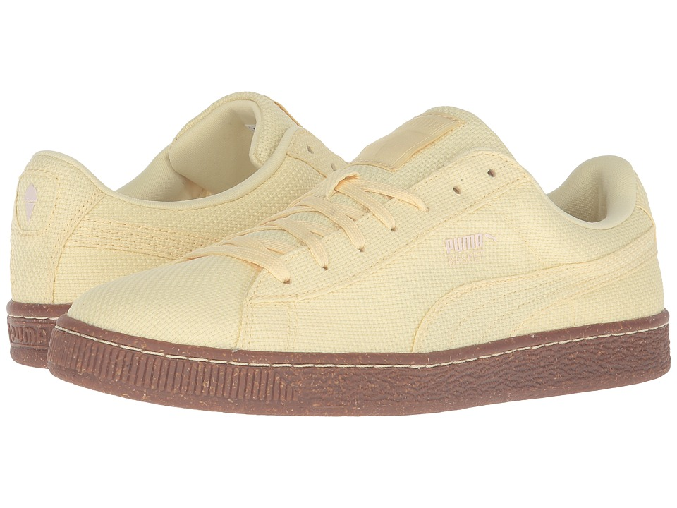 PUMA - Basket Ripstop IC (Mellow Yellow/White Swan) Men's Shoes