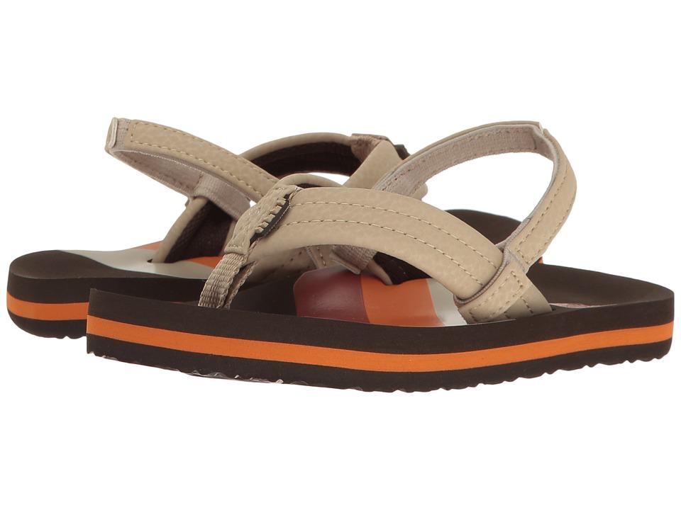 Reef Kids Ahi (Infant/Toddler/Little Kid/Big Kid) (70s Brown) Boys Shoes