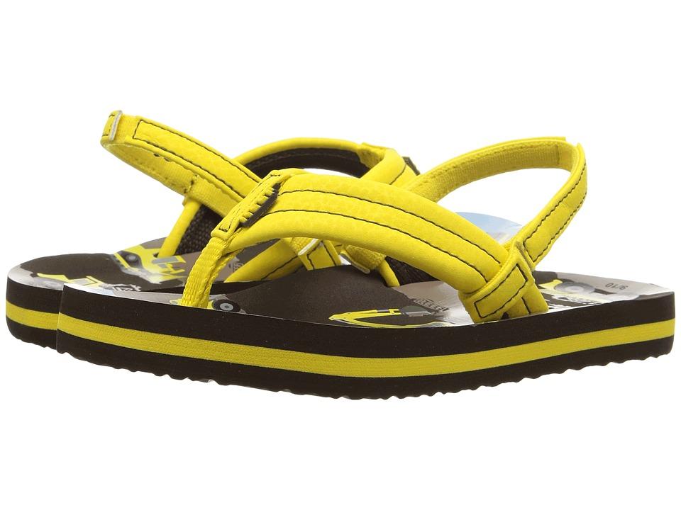 Reef Kids Ahi (Infant/Toddler/Little Kid/Big Kid) (Yellow Trucks) Boys Shoes