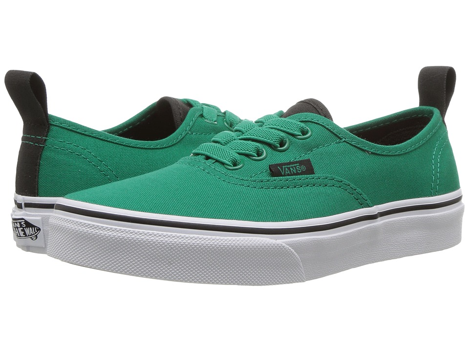 Vans Kids - Authentic Elastic Lace (Little Kid/Big Kid) ((Canvas) Ultramarine Green/Pirate Black) Boys Shoes