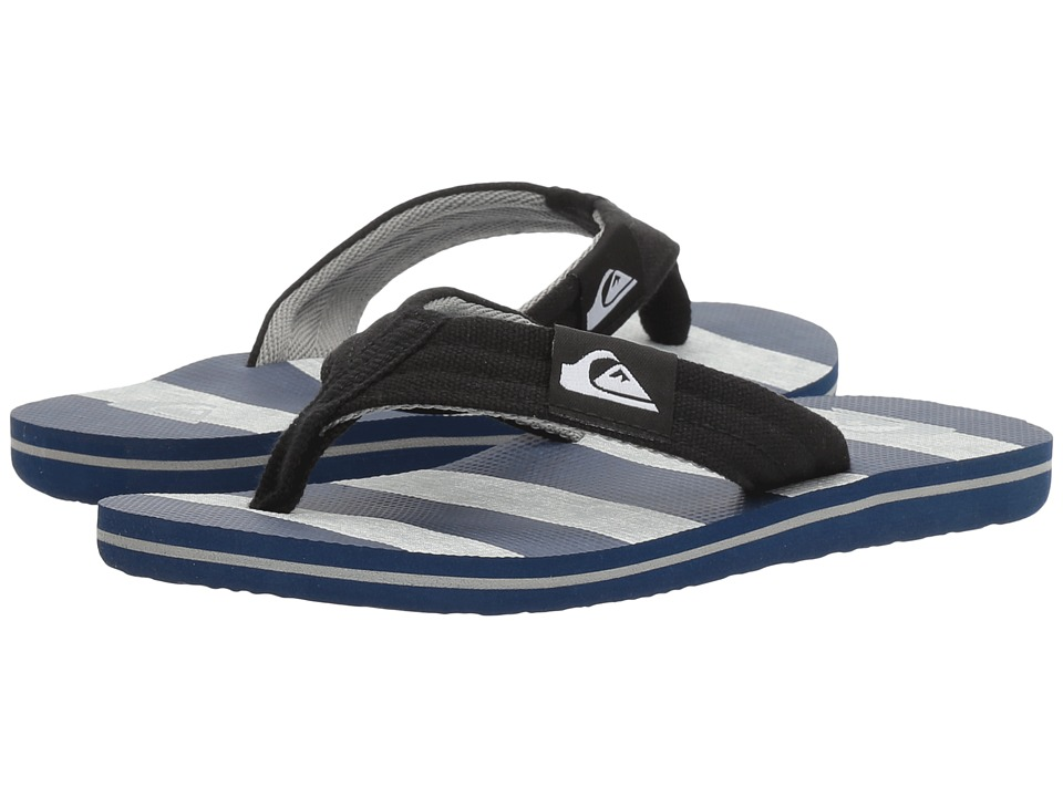 Quiksilver Kids - Molokai Layback (Toddler/Little Kid/Big Kid) (Black/Grey/Blue) Boys Shoes