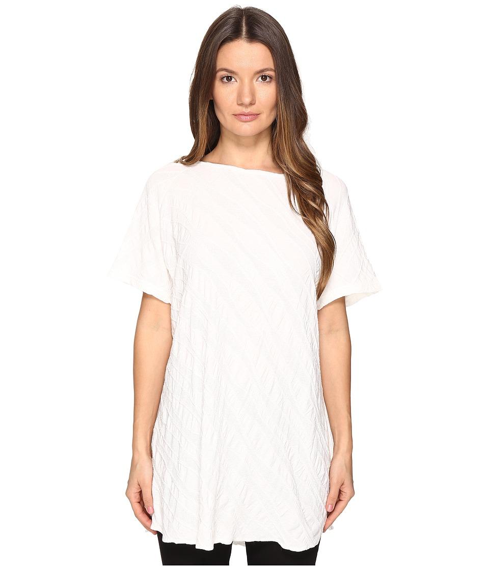 Y's by Yohji Yamamoto - French Sleeve T-Shirt (White) Women's T Shirt