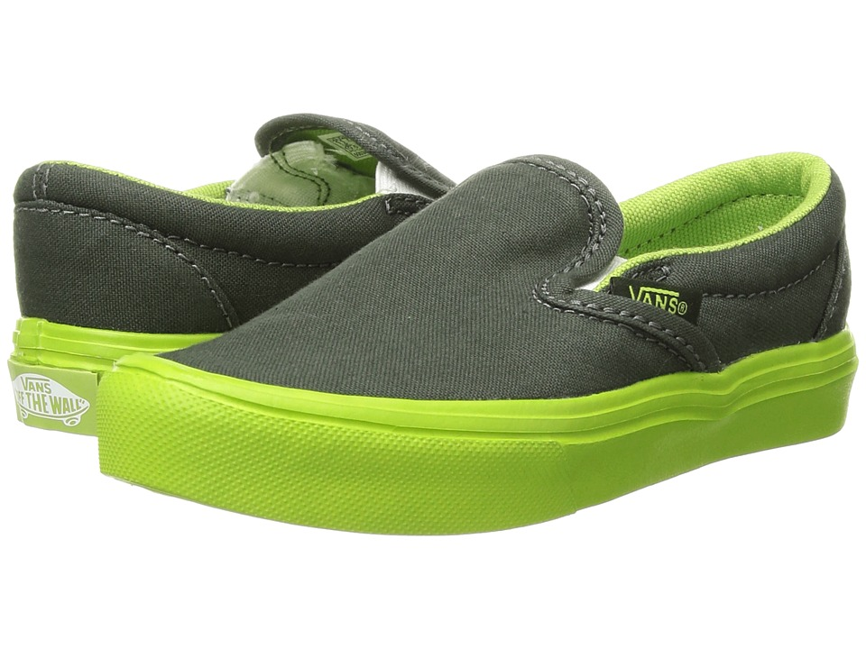 Vans Kids - Classic Slip-On Lite (Little Kid/Big Kid) ((Sole Dip) Duffel Bag/Greenery) Boys Shoes