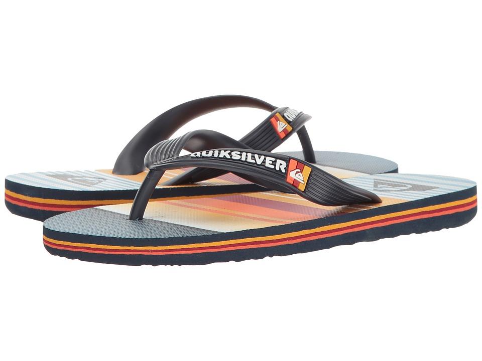 Quiksilver Kids - Molokai Everyday Stripe (Toddler/Little Kid/Big Kid) (Blue/Blue/Orange) Boy's Shoes